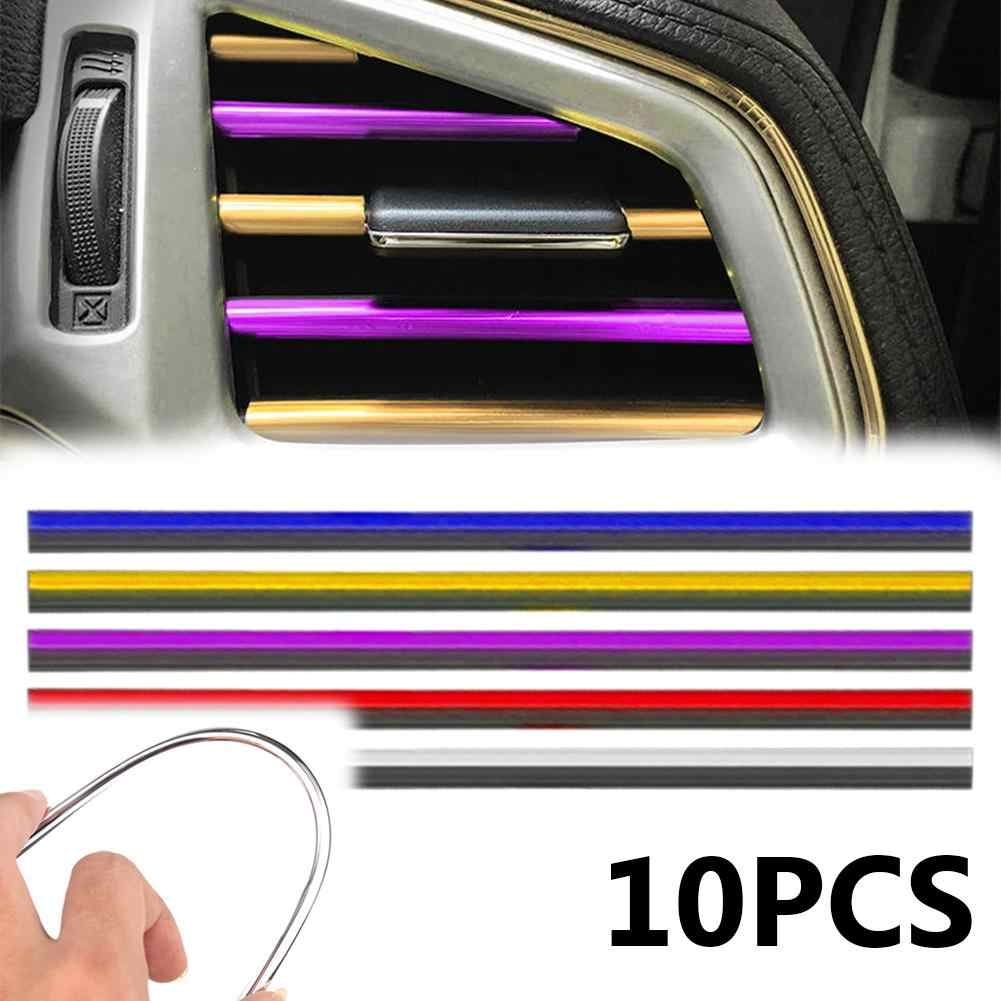 10Pcs Universal U Shape Car Air Conditioner Outlet Trim Strip Grille Decoration Car Styling Accessories