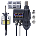 JCD 2 в 1 8898 паяльная станция 750 Вт ЖК-дисплей Дисплей паяльная станция сварки для сотовый телефон BGA PCB SMD IC ремонт припоя инструменты олова
