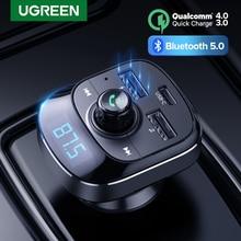 Ugreen Quick Charge 3,0 Auto Ladegerät für Telefon Bluetooth 5,0 FM Transmitter Auto Kit Audio MP3 Player Auto Telefon Ladegerät dual USB