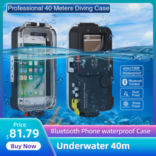 Case-Box Cellphone Underwater Huawei Samsung for Xiaomi Photography 40m Universal Bluetooth