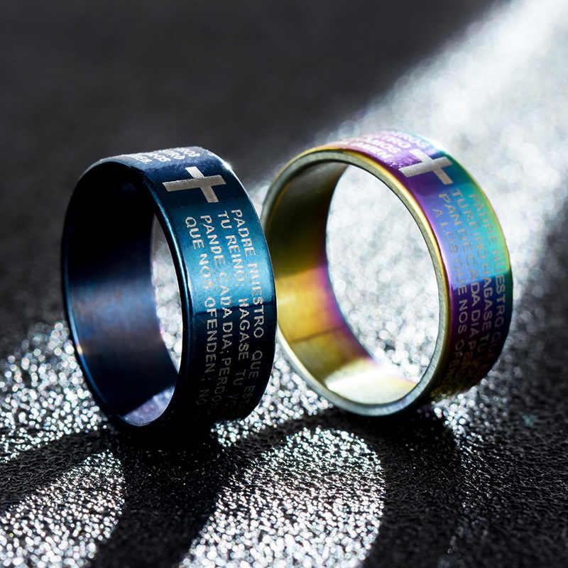 Женское кольцо из розового золота/черного цвета с серебряным покрытием, любовные кольца, обручальное кольцо с надписью, кольца из титана и стали для мужчин