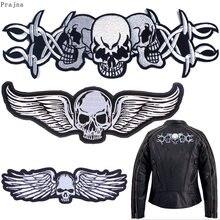 Prajna Motorrad Hippie Patch Aufkleber Punk Schädel Biker Eisen Auf Gestickte Patches Für Kleidung Streifen Brief Patch Applique