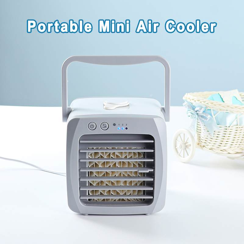 Mini Portable Air Conditioner Fan Desk USB Air Fan Cooler Cooling Humidifier Mute Silent Personal Space For Office Home