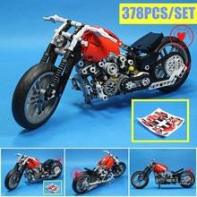 New MOC Motorcycle Motorbike Fit Legoings Technic City Model Building Block Bricks Toys Diy Gift Kid Boys Birthday Christmas недорого