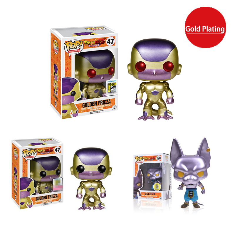 FUNKO POP Japanese Anime Dragon Ball Super Fliesa Frisha Gold Limited Action Character Series Children Model Toys Birthday Gift