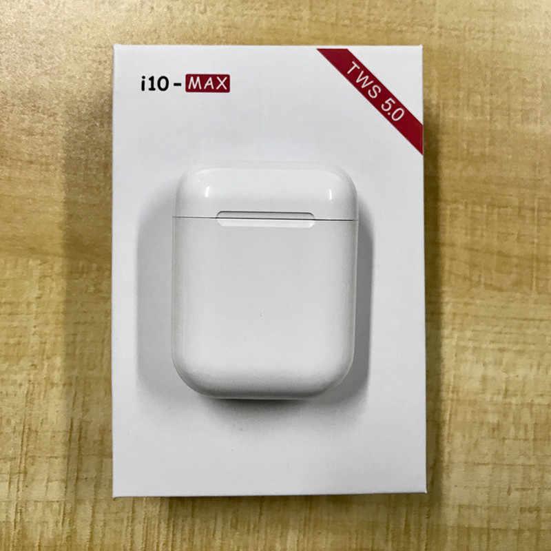 I10 max TWS bezprzewodowy zestaw słuchawkowy Bluetooth 5.0 słuchawki douszne zestaw słuchawkowy z mikrofonem dla iPhone 8 Xiaomi Huawei LG Samsung S6 S8