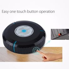 Automatic Vacuum Cleaner for home Dry Wet Mop Anti Collision Intelligent Sweeping Robot Cleaning Sweeper Brooms Black(China)