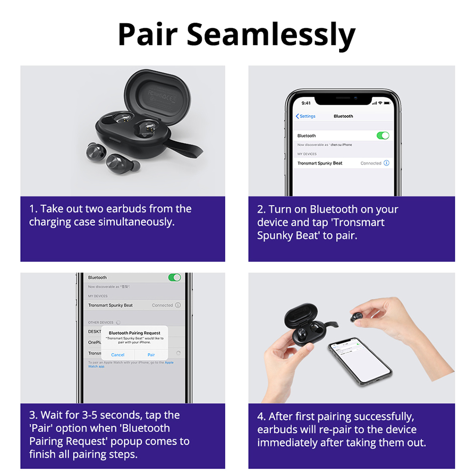 Tronsmart Spunky Beat TWS Bluetooth 5.0 Earphone APTX Wireless Earbuds with QualcommChip CVC 8.0 Touch Control Voice Assistant (19)