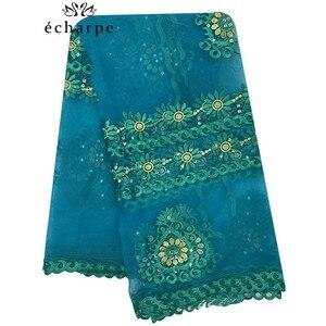 Image 3 - 2020 Новая африканская Женская шаль мусульманская вышивка шарф из тюли хиджаб шарф мусульманский шарф больших размеров для шали BM956