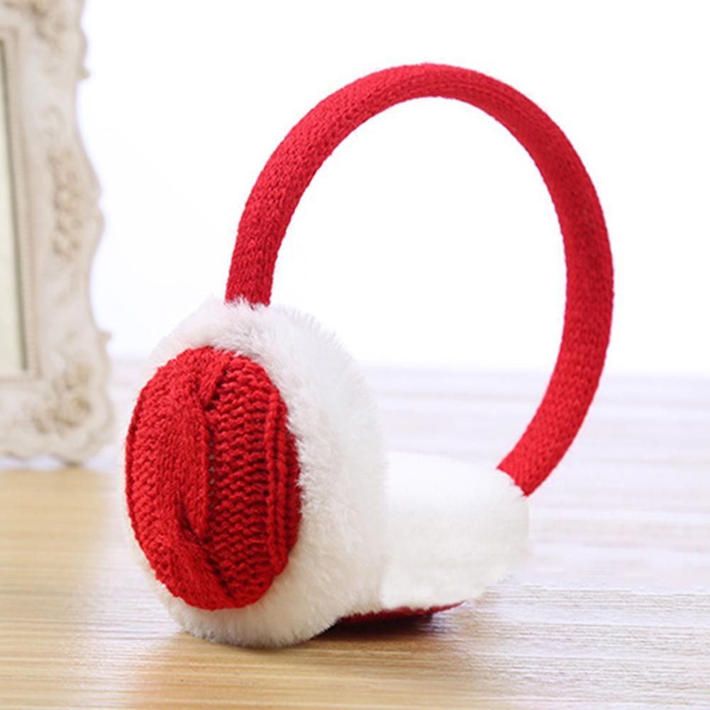 Fashion Earmuffs Women Winter Warm Plush Knitted Earmuff Ear Warmer Accessory Gift  Girl Fur Winter Ear Warmer Earmuffs Headband