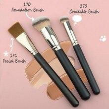 Ronshadow única escova de maquiagem fundação corretivo facial compõem escovas beleza cosméticos ferramenta