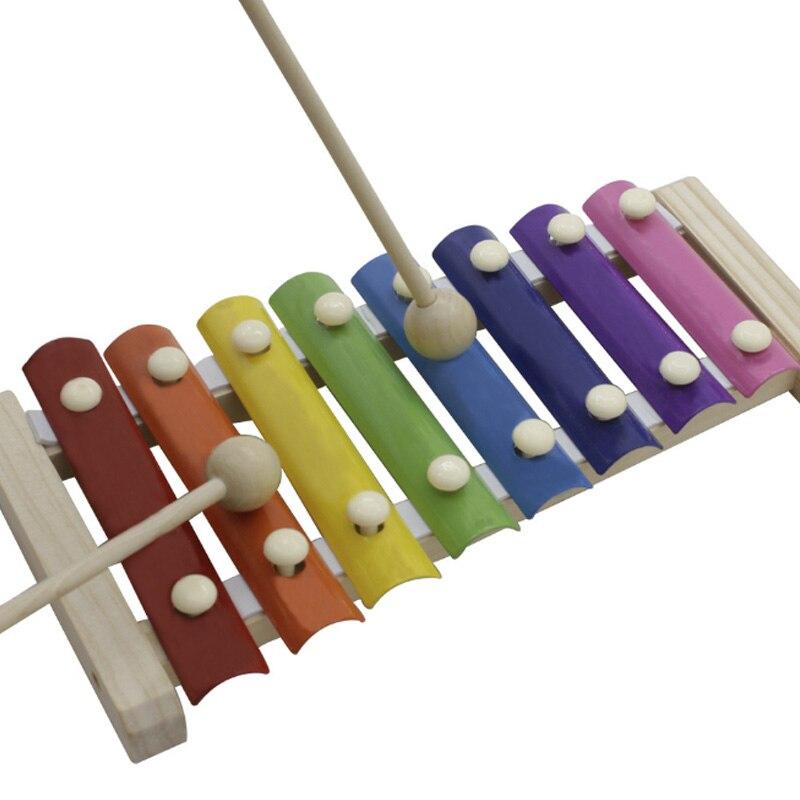 musicais xilofone arco-íris cor mão bater mini