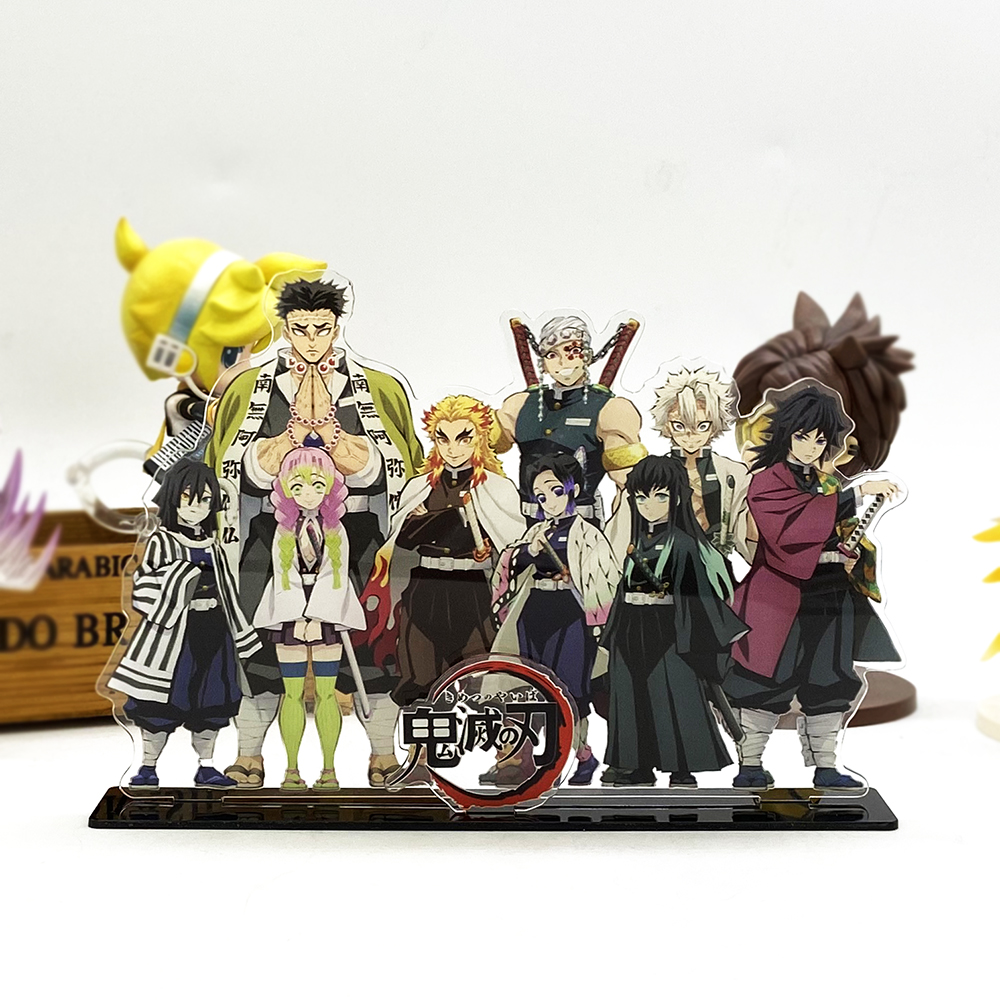 Love Thank You Demon Slayer Kimetsu No Yaiba Hashira Giyuu Muichirou Shinob Acrylic Stand Figure Model Plate Holder Cake Topper