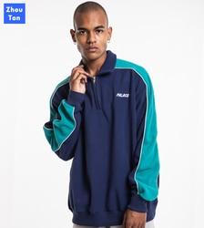 Толстовки для мужчин в стиле пэчворк с длинным рукавом брендовая одежда теплая ограниченная Натуральная Мода Новинка 2020 для влюбленных