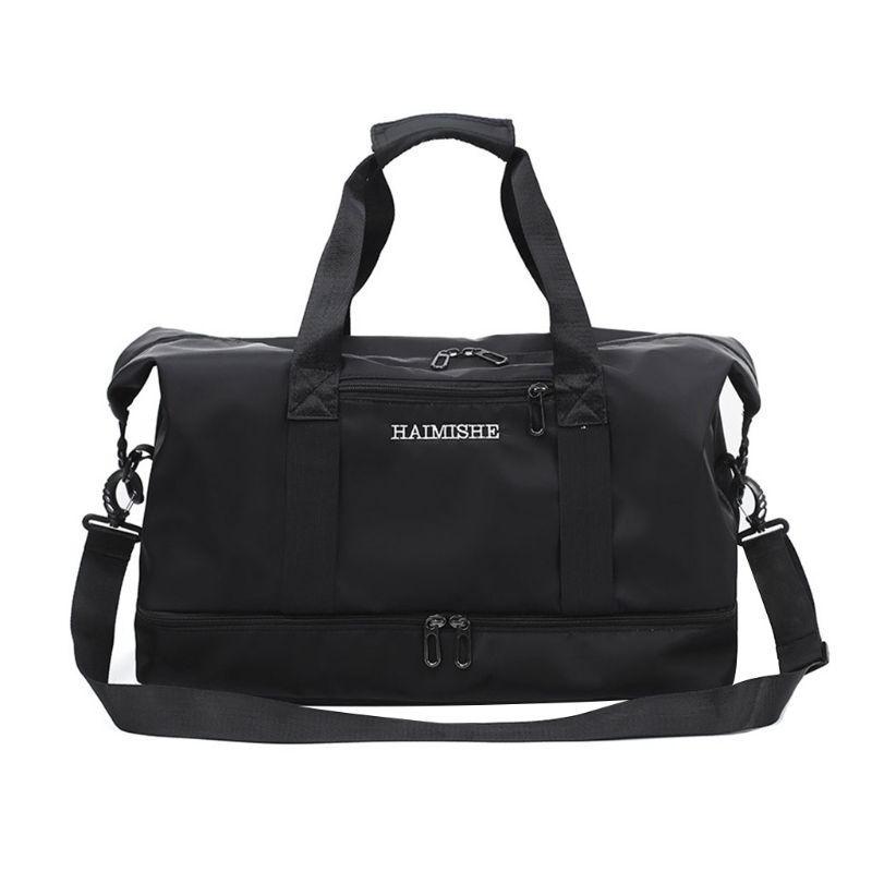 Sport Gym Shoulder Fitness Training Handbags Yoga Travel Bag For Women And Men With Wet Pocket And Shoes Compartment