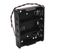 MasterFire 400pcs/lot Battery Holder Storage Case Box for 3 X C Size Batteries With Wire Leads Slots 4.5V Clip DIY Accessories