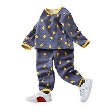 Детские пижамы для девочек Осень зима домашняя одежда детское