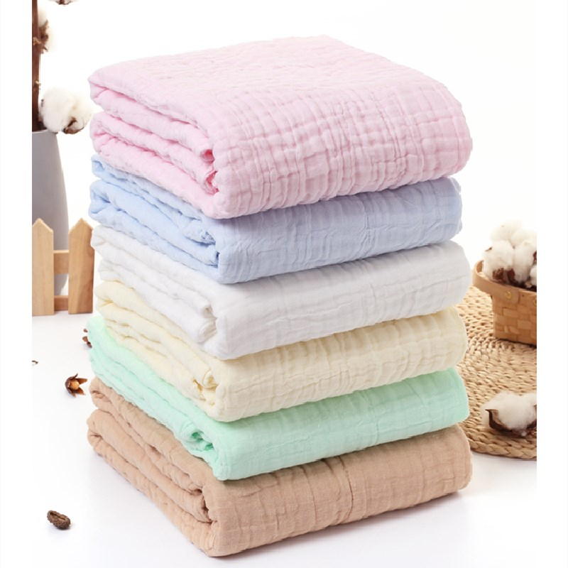 Muslin Swaddles Blanket for Newborn Cotton Bath Towel Infant Burp Clothes Boy Girl Baby Blankets Cloth Diaper