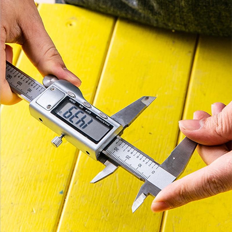 Caliper 150mm Digital Vernier  Led Digital Electronic Measure Gauge Metal Caliper Stainless Steel Tool