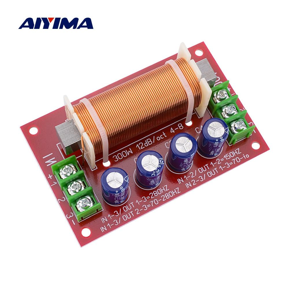 AIYIMA 1 Uds Subwoofer frecuencia de Crossover altavoz divisor 300W bafle de graves Crossover filtros para casa estudio de Teatro de Audio de alta fidelidad,