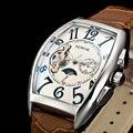 SEWOR новые модные спортивные мужские автоматические механические кожаные Наручные часы для мальчиков  мужские зеркальные часы с симфоничес...