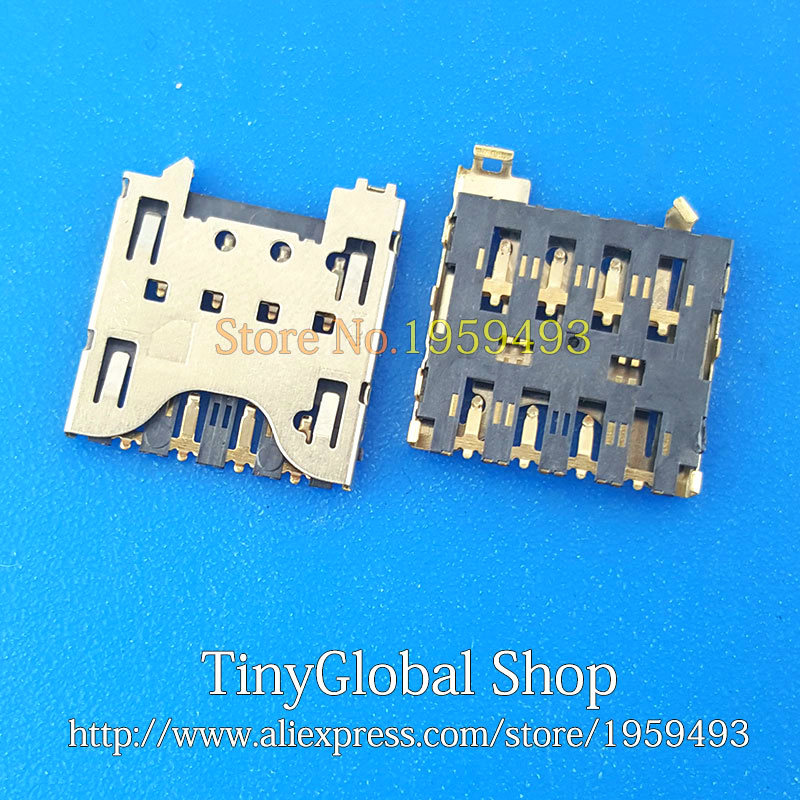 2pcs/lot Coopart New Sim Card Reader Connector Holder Tray Slot Socket Replacement For Blackberry Z10 Q10 Top Quality