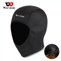 WEST BIKING Winter Cycling Motorcycle Helmet Cap Windproof Running Skiing Skull Caps MTB Bike Helmet Inner Liner Sport Headwear