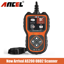 OBD2 Scanner Diagnosis-Tool Ancel As200 Code-Reader Engine OBDII for Check Multi-Language