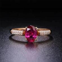 2020 hohe Qualtiy Roten Kristall Hochzeit Ringe Für Frauen Rose Gold Farbe AAA CZ Kristall Engagement Ring Mode Schmuck Zubehör