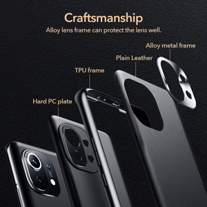 Image 4 - ESR Skin Friendly Case for Xiaomi 11 Plain Leather Back Cover for Mi 11 Slim and Light Smooth Business Case for Xiaomi 11