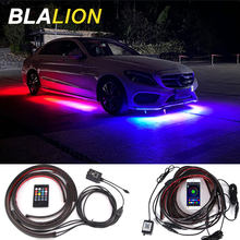 Car LED Underglow Lights Atmosphere Lamp Remote /APP Control Flexible Strip RGB Underbody Decorative Chassis Lights Neon Lights