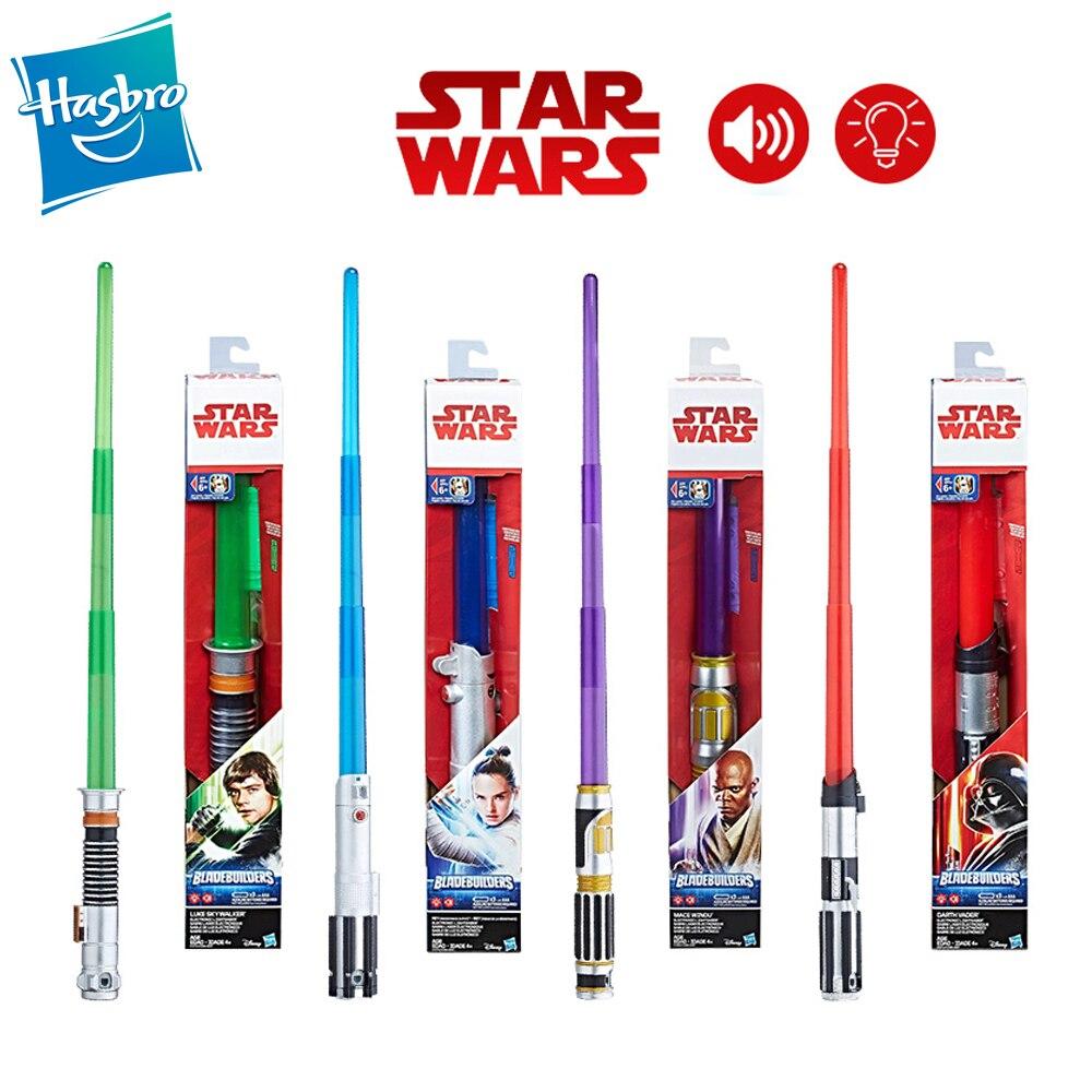 Hasbro Star Wars Lightsaber Darth Vader Rey Luke Mace Windu Heavy Dueling High Quality Light Saber Cosplay Toys Christmas Gift