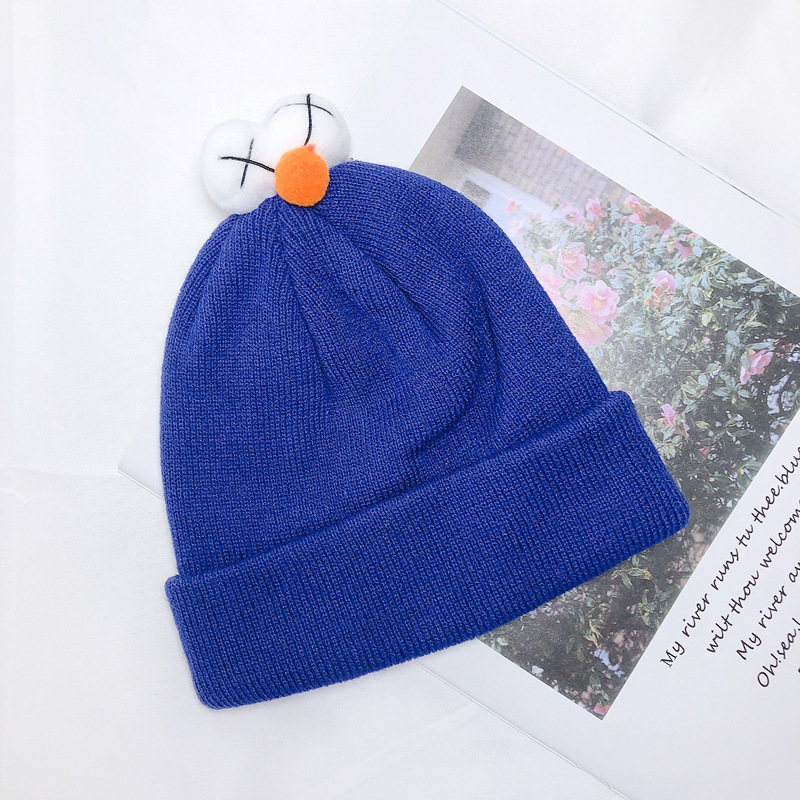 Winter Hats Beanie-Caps Pullover-Cap Knit Wool Autumn Girl Children Cute And Boy Color