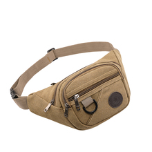 Male Waist Bag Pack Casual Functional Money Phone Belt Men Multifunction Outdoor For Canvas Hip Fanny Pouch Banana Bags