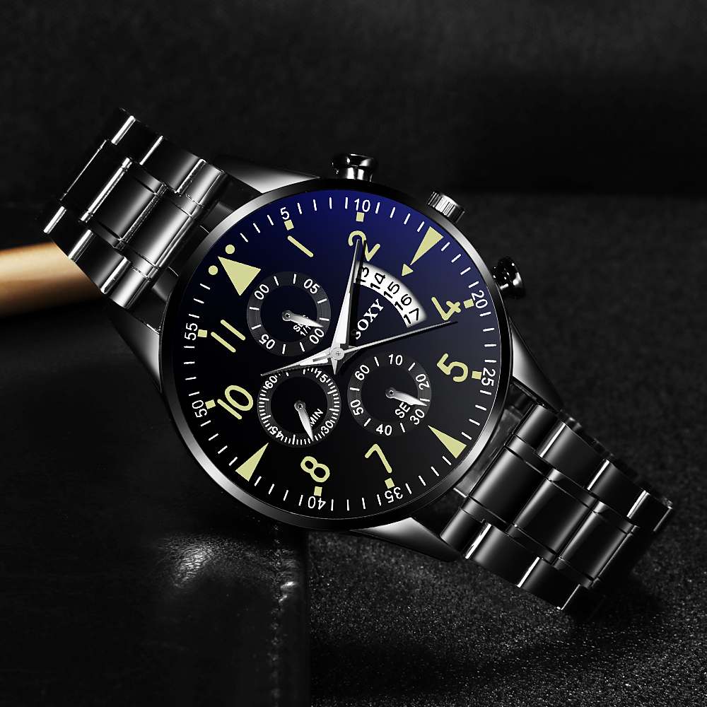 H8f5c54bcb7c947cea38182817a2cf638u Quartz Wristwatch Luminous SOXY Men's Watches Classic Calendar Mens Business Steel Watch relogio masculino Popular saati hours