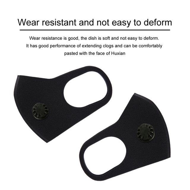 Cycling face mask with filter carbon respirator air purifying windproof mouth-muffle washable masks spongek mouth muffle ffp2