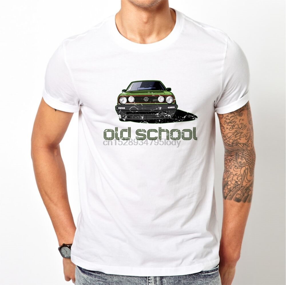 Car  T Shirt Golf Gti Mk2 Vw Art Classic Volkswagen Gift Mk1 Vintage Retro Hot