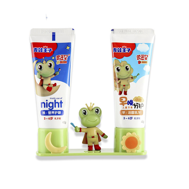 2pcs Strawcherry Fruit Flavor Toothpaste For Kid Oral Cleaning Teeth Whitening Remove Tooth Brush Day And Night Toothpaste