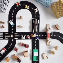 Crianças educacional aprendizagem tráfego brinquedos para crianças construção de estrada carro de brinquedo estrada expressway auto-estrada flexível puzzle pista conjunto