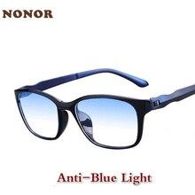 NONOR Blue Light Blocking Glasses Men Women Anti-Blue Light Eyeglasses TR90 Computer Eyewear Female Eyewear Glasses for Men