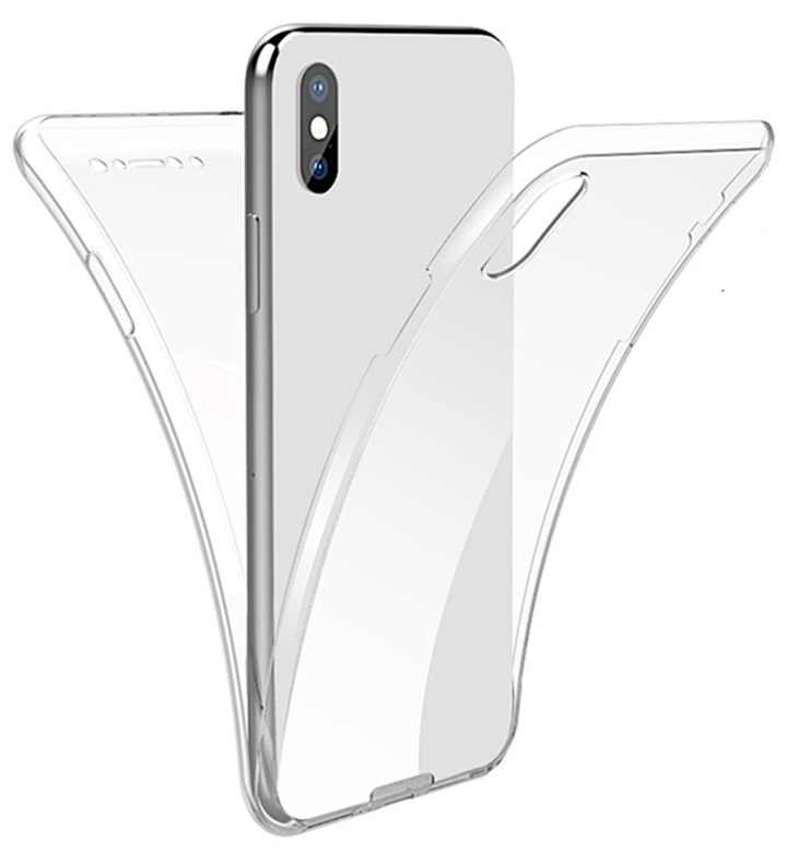 360 capa de corpo inteiro para iphone 11 pro max 8 7 6 plus 5 dupla face tpu + tpu transparente coque para iphone x xr xs max funda