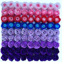 81 pçs cor mistura rosa banho corpo flor floral sabão perfumado rosa flor diy presentes para dia dos namorados festa de casamento 3