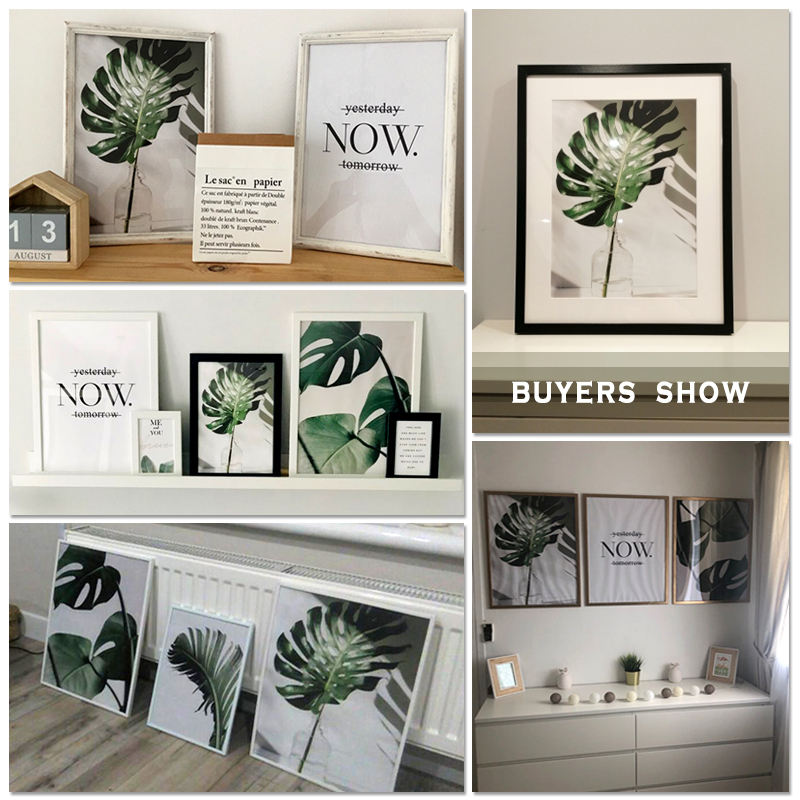 H8f5d2bba6b564076b8bda0a9554cbae2l ART ZONE Nordic Canvas Painting Modern Prints Plant Leaf Art Posters Prints Green Art Wall Pictures Living Room Unframed Poster