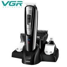 Вгр машинка для стрижки волос Перезаряжаемые аккумуляторная машинка для стрижки волос Бритва точный/Дизайн/триммер для носа/машинка для стрижки бороды и усов; 6-в-1, способный преодолевать Броды для взрослых Для мужчин-штепсельная вилка европейского стандарта
