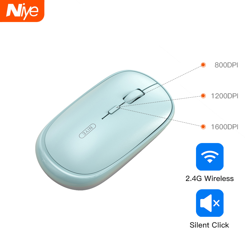 Niye Wireless Mouse Mini Optical Computer Gaming Mouses Mice for PC Laptop Destop Not Bluetooth Mouse Gamer Girl Accessories