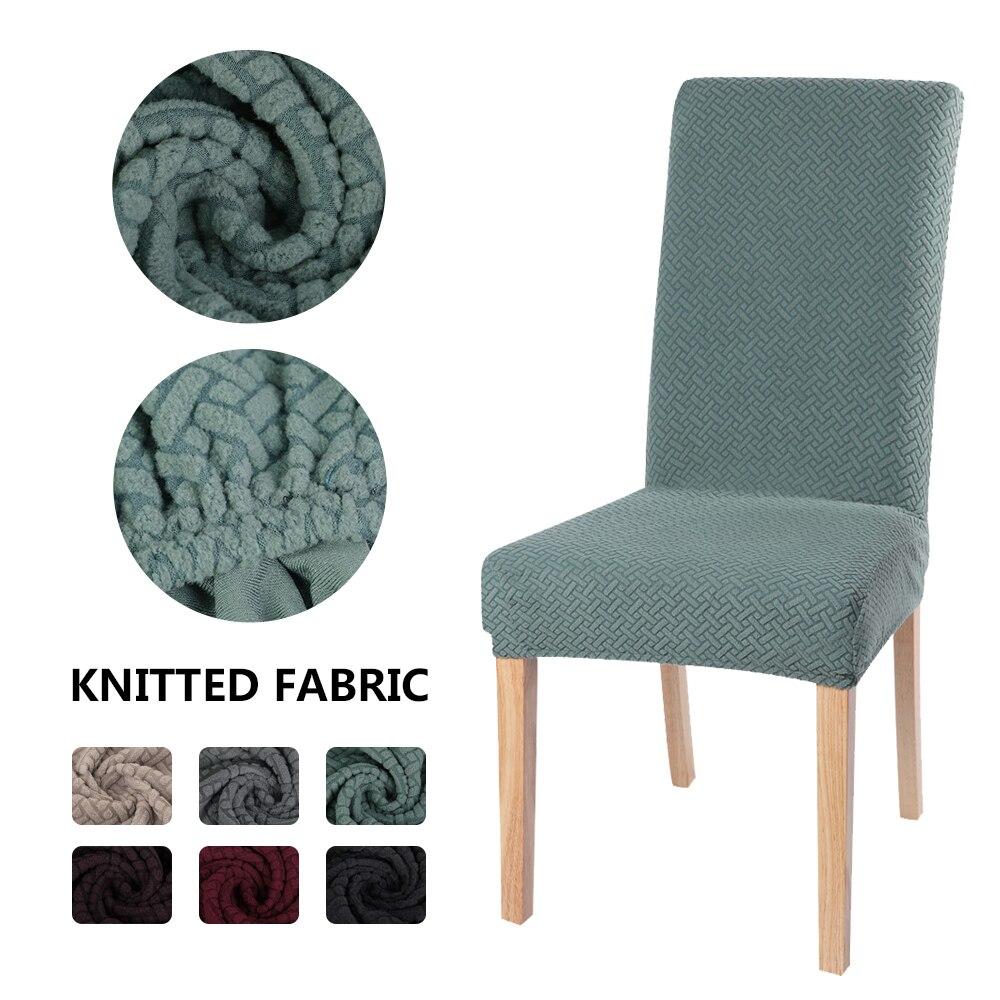 1/2/4 adet jakarlı sandalye yemek kapak Spandex elastik Slipcover vaka mutfak streç kapakları sandalyeler koltuk ziyafet koruyucu