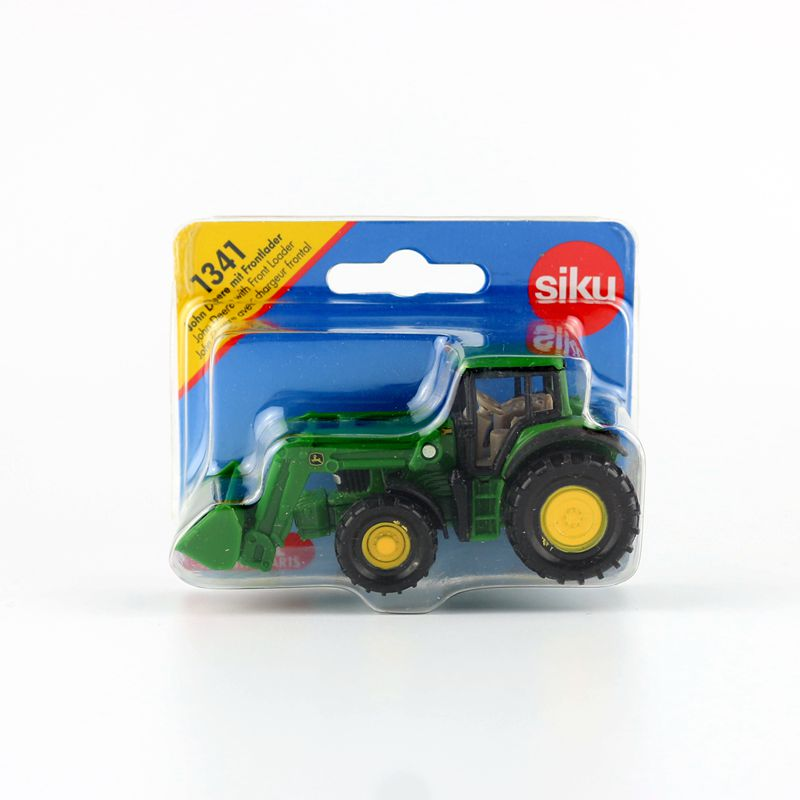 SIKU 1341/Diecast Metal Model/John Deere With Front Loader Engineering Farm Tractor/Educational Car/Collection/Gift For Kid