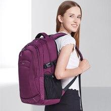 Mixi Women Backpack Men Travel Shoulder Bag Laptop Backpack Boys Girls Student Book Bag Waterproof Black Purple 18 Inch M5160