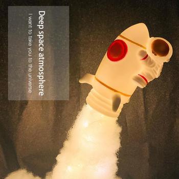 Nowe lampy wahadłowe i lampy astronautów w świetle nocnym przez druk 3D dla miłośników kosmosu dekoracja lampy rakietowej Dropshipping tanie i dobre opinie oobest atmosferyczne cartoon CN (pochodzenie) NONE Lampki nocne