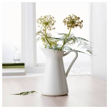 Flower-Vase Storage-Bucket-Tool Pitcher Container Wedding Home Decor Ornament Shabby Chic Cream Flower Vase Retro Iron Tub 1
